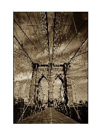 Titel: Brooklyn Bridge New York City, Kunstenaar: Teun Voeten - New York