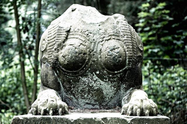 Titel: Stone Head, Kunstenaar: Giles Daoust - NATURE FANTASTIQUE