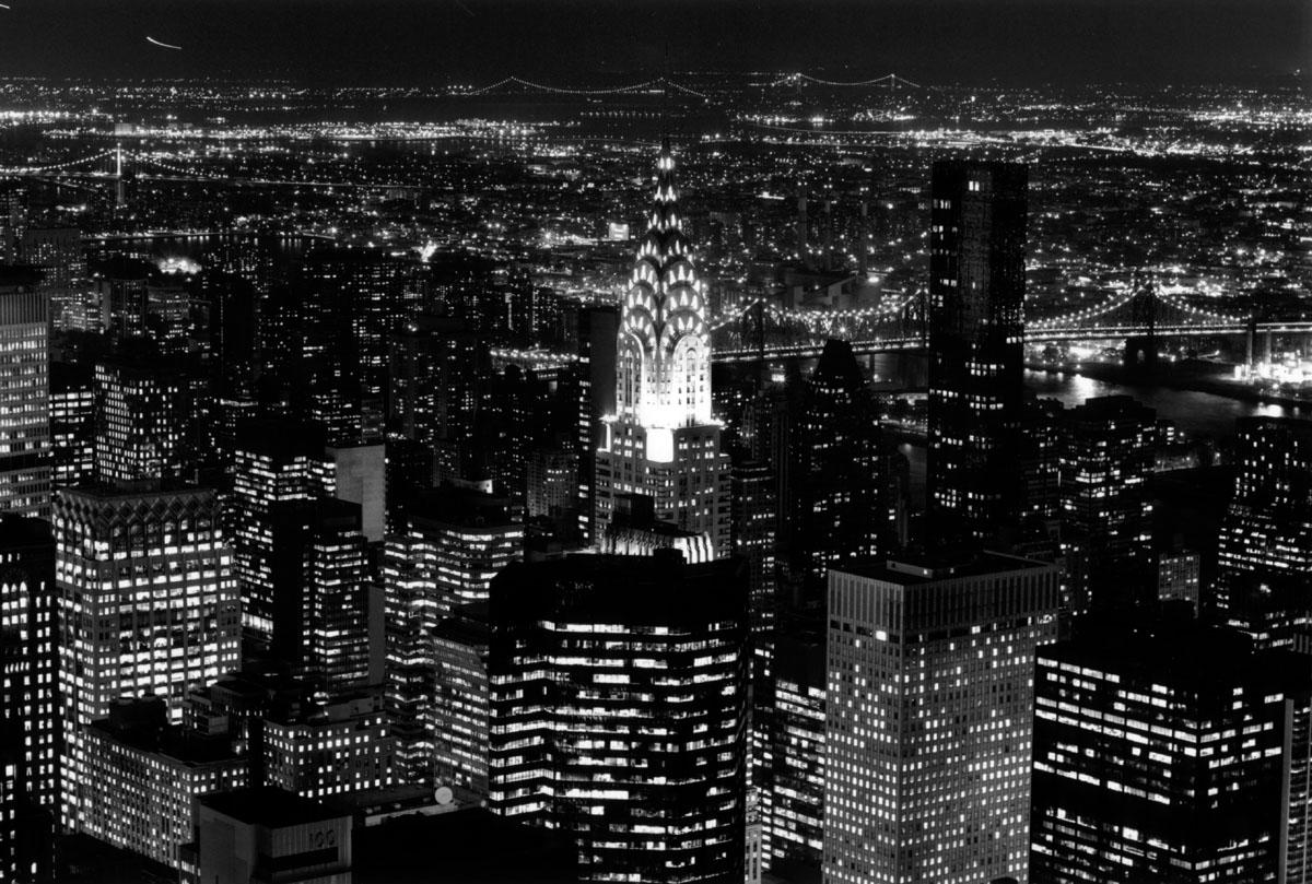 Titel: Chrysler Night NY, Kunstenaar: Teun Voeten - New York
