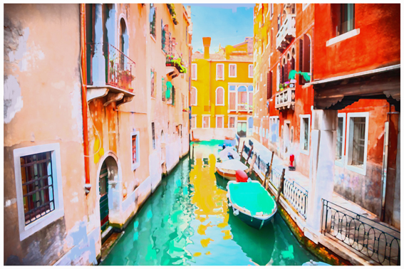 Titel: Pop Venice, Kunstenaar: Pamplemood - Pop cities
