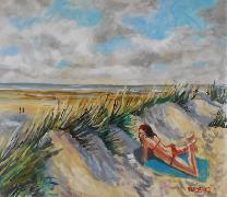 Titre: Les dunes de Sainte-Cécile, Artiste: Hardenne, Claude