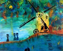Titel: Chemin des offrentes, Kunstenaar: Anders, Uwe