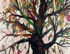 Titel: Tree and flowers, Kunstenaar: Belluzzo, Antonio
