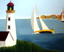 Titre: Belle navigation, Artiste: De Crayencour , Anne-Marie
