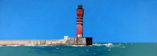 Titel: phare de St-Pol, Kunstenaar: Dumont, Michel