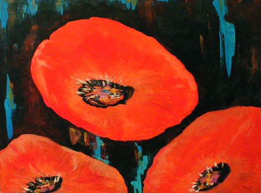Titre: Coquelicots, Artiste: Layon, Monique
