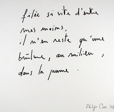 Titel: La brulure, Kunstenaar: Philippe Cloes