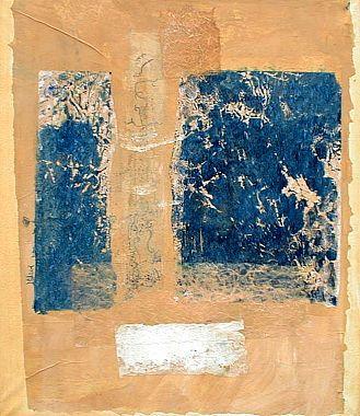 Titre: Bleu-Jaune, Artiste: Prignon, Monique