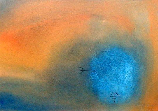 Titel: Bleu 5, Kunstenaar: Monique Prignon