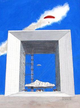 Titel: Arche Défense, Kunstenaar: Josse Van Damme