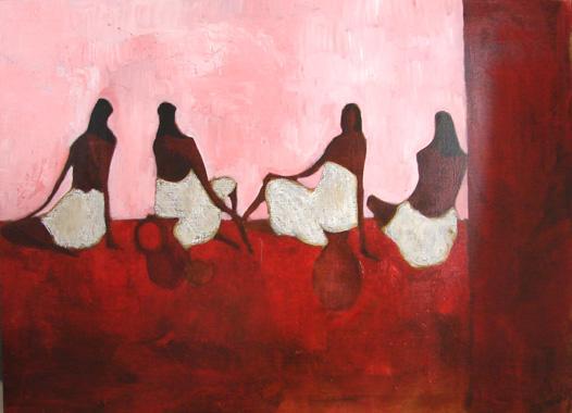 Titel: Hammam rouge 2, Kunstenaar: Marc Dehareng