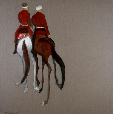 Titel: Deux cavaliers, Kunstenaar: Dehareng, Marc