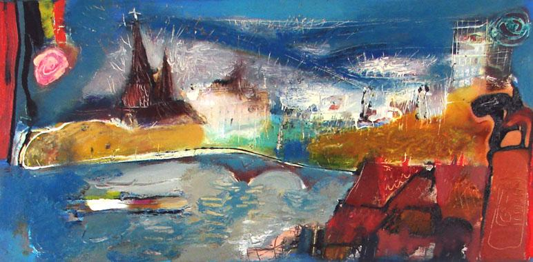 Titel: Liège's Cityscape, Kunstenaar: Ilgvars ZALANS