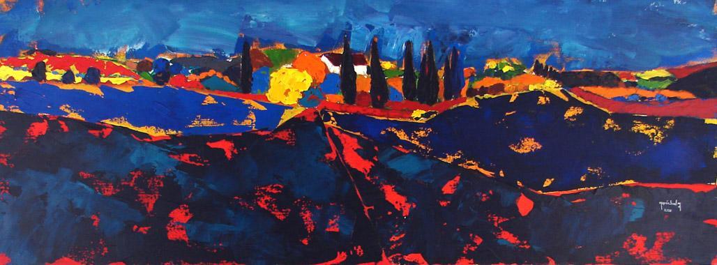 Titel: Toscane 11, Kunstenaar: Marie-Ange Maréchal