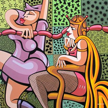 Titel: Le marketing de la saucisse, Kunstenaar: LOPEZ, Alfredo