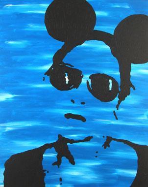 Titel: Self portrait as the mouse, Kunstenaar: Bautier, Aurelie