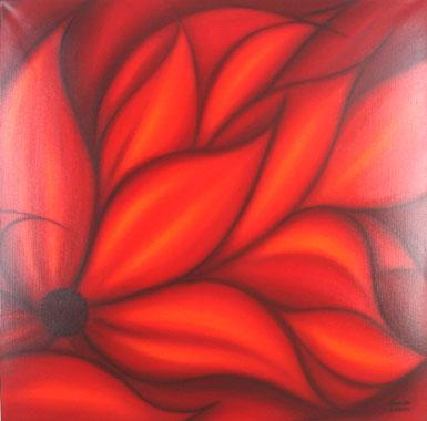 Titel: Red Clematite, Kunstenaar: Dolores Morcillo