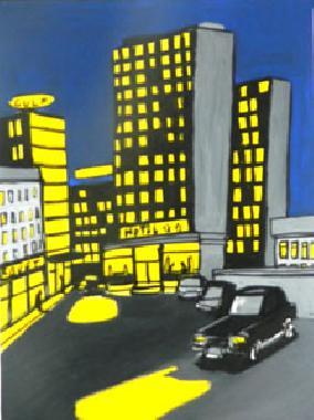 Titel: City by night 13, Kunstenaar: Tornado, Eddy