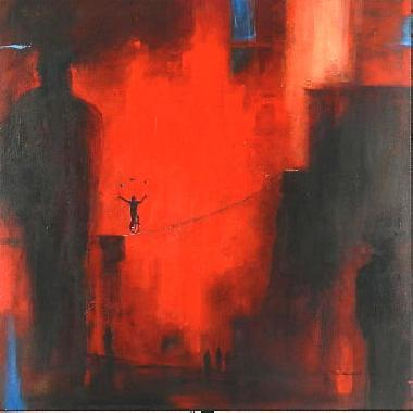 Titel: Acrobate rouge, Kunstenaar: Françoise d'Andrimont