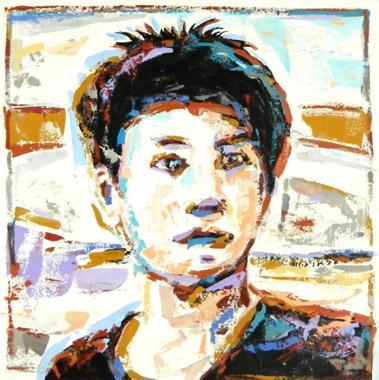 Titel: L'homme en tourbillon d'émotions, Kunstenaar:  BAUCAN