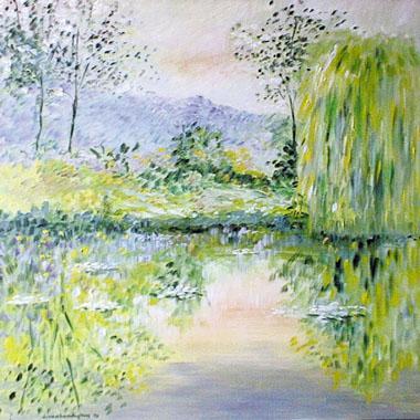 Titel: Etang de Monet 16, Kunstenaar: Van Landeghem, Joelle