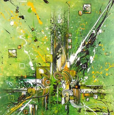 Titel: AbstraKtion 3, Kunstenaar: La Boukle,