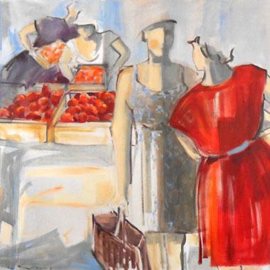 Titre: Avant le marché, Artiste: Lambeaux, Astrid