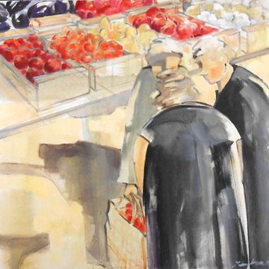 Titel: Apr�s le march�, Kunstenaar: Lambeaux, Astrid