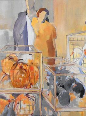 Titel: Marché aux poules, Kunstenaar: Astrid Lambeaux