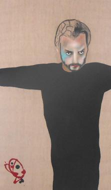 Titel: Autoportrait � la tache bleue, Kunstenaar: Lemarois, Fabrice