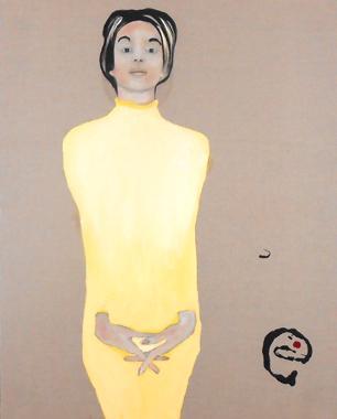 Titre: Dame jaune