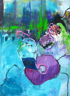 Titre: blaue Blume
