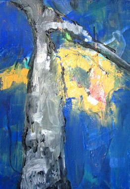 Titel: gelbes Blatt, Kunstenaar: Pohl, Christine