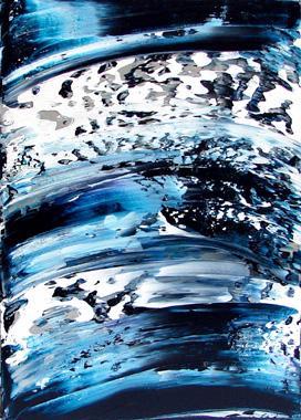 Oeuvre ushuaia de silvia depaire location de peintures et tableaux pour les entreprises for Peinture ushuaia
