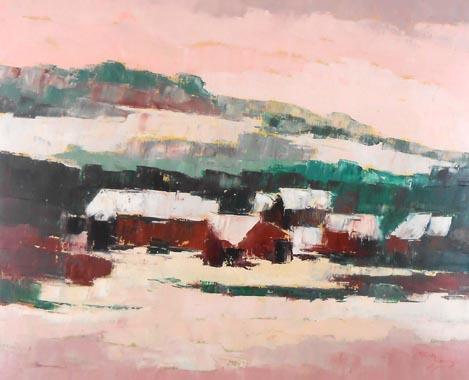 Titel: Hiver en Ardenne, Kunstenaar: Madeleine Remy