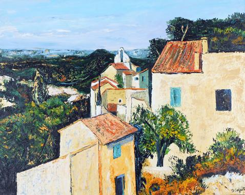 Titel: Eygalières, Kunstenaar: Monique COGNET
