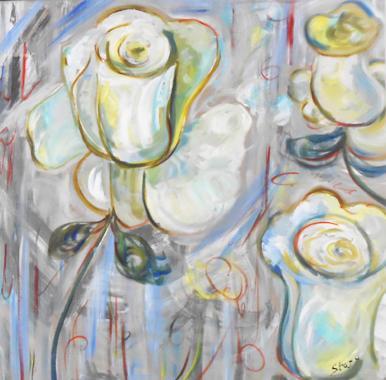 Titel: White Roses, Kunstenaar: Starr, Erin