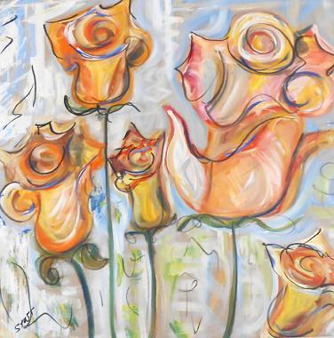 Titel: Orange Roses, Kunstenaar: Starr, Erin