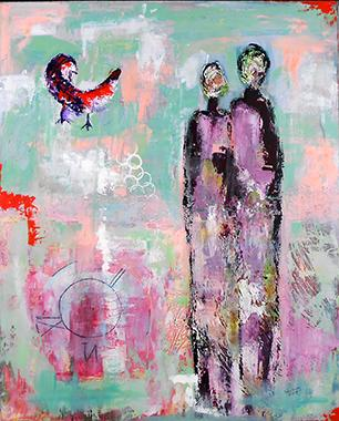 Titel: Abstraction 7, Kunstenaar: Selma Saraoui