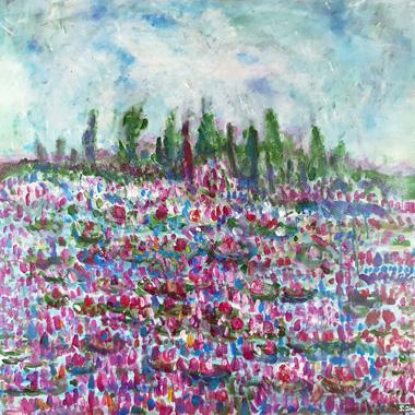 Titre: peinture florale 11