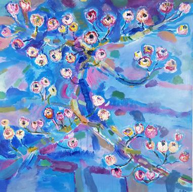 Titel: peinture florale 04, Kunstenaar: DEZ, Sylvain