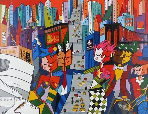 Titel: New York New York, Kunstenaar: Monika Tokarz
