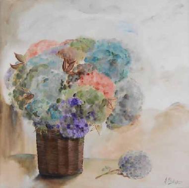 Titel: Le panier, Kunstenaar: Ann Philippsen