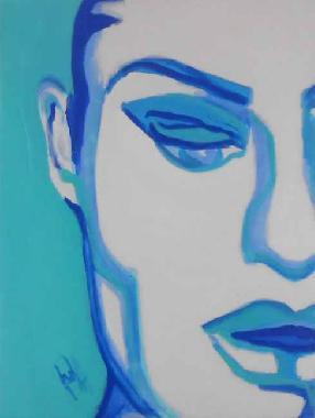 Titel: Pezzo di blu, Kunstenaar: Veronique Rigole