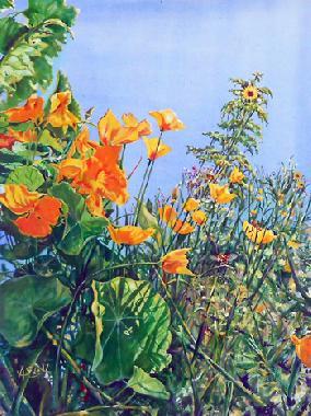 Titel: Fleurs Jaunes en Soleil, Kunstenaar: Anne Everard de Harzir