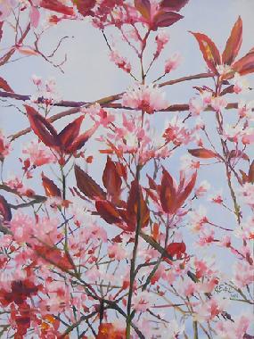 Titel: Fleurs de Cerisier, Kunstenaar: Anne Everard de Harzir