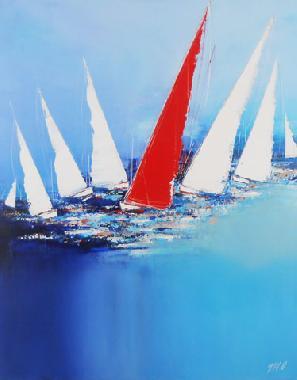 Titre: Le Voilier Rouge, Artiste: MESSAS, Olivier