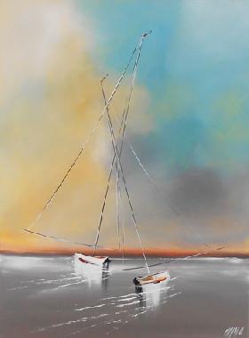 Titel: En Tête à Tête II, Kunstenaar: Olivier MESSAS
