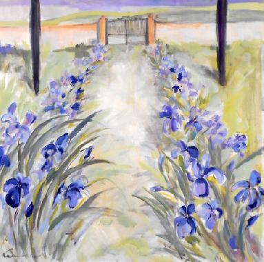 Titel: L'all�e d'Iris, Kunstenaar: Lambeaux, Astrid