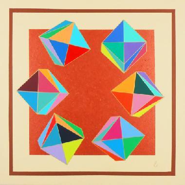 Titel: GEOMETRIE 6 B, Kunstenaar: Moulin, Eug�nie